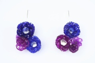 Safira Blom, Underwater World: Earrings 7 x 4 x 2.5 cm 925 silver, PVC: hand cut and dyed, fabricated