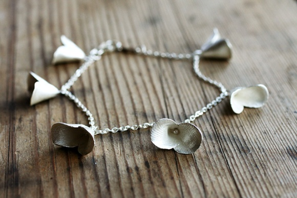 Safira Blom, Fingerprint Pods Bracelet, 925 silver.