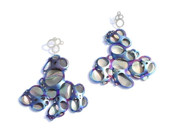 Safira Blom Self Proliferating Patterns Bubble Earrings