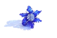 Safira Blom, Underwater World: Electric Blue Coral Pin, 2013 925 silver, PVC: hand cut and dyed, fabricated