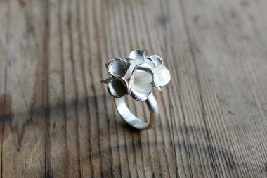 Safira Blom, Fingerprint Pods Ring, 925 silver