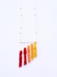 Safira Blom, Two, 2013 Neckpiece; 925 silver, hand cut and dyed PET plastic from fruit containers